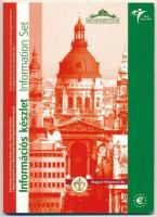 """2003. 1c, 2c, 5c, 10c, 20c, 50c, 1E, 2E próbaveretek + """"Népszavazás Magyarország Európai Uniós csatlakozásáról"""" rézötvözetű emlékérem, első hivatalos információs készlet 2003. 1 Cent, 2 Cents, 10 Cents, 20 Cents, 50 Cents, 1 Euro, 2 Euros trial strike + """"Referendum fot he Accession of Hungary to the European Union"""" CuNiZn medal, first official euro information set"""