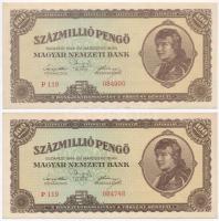 1946. 100.000.000P (2x) 1946. 100.000.000 Pengő (2x)