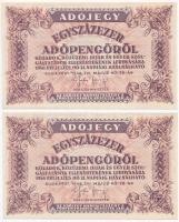 1946. 100.000AP (2x) 1946. 100.000 Adópengő (2x)