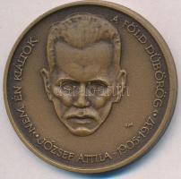 """Mihály Fritz (1947-) 1980. """"Hungarian Numismatic Collectors - Szeged - Makó / Attila József"""" Br medal (42,5mm), Fritz Mihály (1947-) 1980. """"MÉE Szeged / Makó- József Attila"""" Br emlékérem (42,5mm)"""