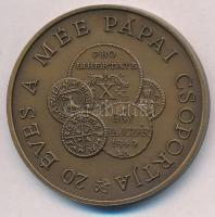 "György Bognár (1944-) 1990. ""Hungarian Numismatic Collectors Society - 20rh Anniversary of the Group of Pápa"" Br medal (42,5mm), Bognár György (1944-) 1990. ""MÉE Pápa - 20 éves a Pápai Csoport"" Br emlékérem (42,5mm)"