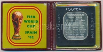 """1982. """"FIFA-Football VB Spanyolország"""" Ag szögletes emlékérem. Csak 2000db! 1982. """"FIFA - Spain Football World Championship"""" commemorative Ag medallion. Only 2000pcs"""