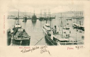 1899 Fiume, Molo Adamich / port, steamship