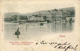 Fiume, Palazzo Adria, Governo maritime / palace, maritime government, steamship
