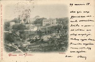 1899 Fiume, Trsat, Tersatto / castle