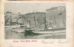 1899 Fiume, Porto Molo Daniel, steamships