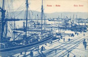 Fiume, Rieka; Molo Danie, steamships