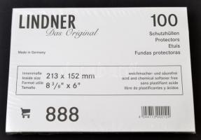 Protective Covers/Sleeves for old postcards(888),acid and chemical softener free Hard-PVC film, 213x152mm, 100/packs, clear Schutzhüllen für alte Ansichtskarten (888), 213x152mm, glasklar Lindner víztiszta képeslaptok/bankjegytok (888), 213x152mm, 100db/cs.