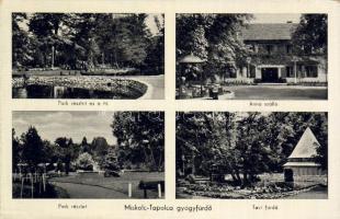 Miskolc-Tapolca gyógyfürdő, Park, tó, Anna szálló, Tavi fürdő