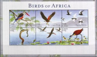 Birds of Africa mini sheet, Afrika madarai kisív