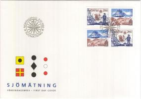Hydrography 2 pairs on FDC, Vízrajz 2 pár FDC-n, Hydrographische Vermessung FDC