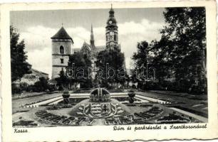 Kosice, cathedral, park, Kassa, Dóm, park, Szentkorona