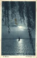 Balaton, holdvilágos est, vitorlás