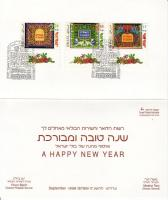 Jewish celebration: wall carpets set with tab on greeting card, Zsidó ünnep: fali szőnyegek tabos sor üdvölőkártyán, Jüdische Festtage: Vorhänge 3 Werten im Grußkarte