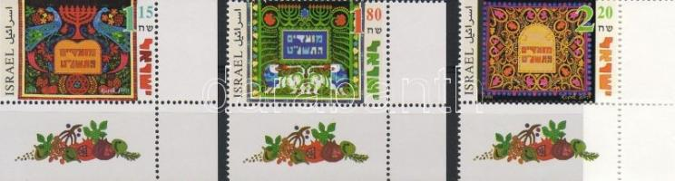 Jewish celebration: wall carpets set, Zsidó ünnep: fali szőnyegek sor, Jüdische Festtage: Vorhänge Satz