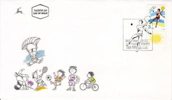 Sport stamp with tab on  FDC, Sport tabos bélyeg FDC-n, Sport FDC