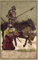 Knight soldiers from Middle Ages litho s: Schultz, Középkori lovag katonák litho s: Schultz