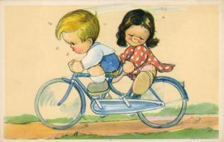 Cycling children, Bicikliző gyerekek