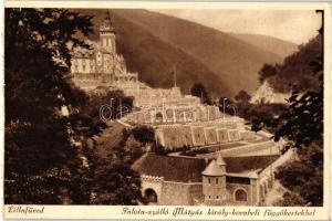 Lillafüred, Palota szálló, Mátyás király korabeli függőkert
