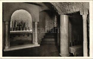 Budapest II. Magyar Szentföld, Betlehemi barlang, születési oltár, Három királyok oltár, belső So. Stpl