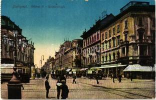 Budapest VIII. Rákóczi út, villamos