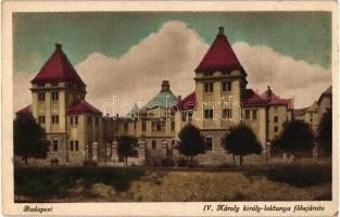 Budapest XI. IV. Károly király laktanya főbejárata
