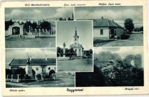 Nagyoroszi, Gróf Berchtold kastély, Drégely vára, Heffter Lipót üzlete, Hősök szobra