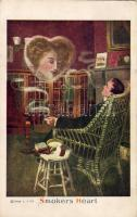 Smokers Heart, Series 818-12., Dohányzó férfi Series 818-12.