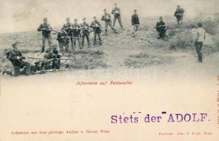 1898 Infanterie auf Feldwache / German infantry on patrol, 1898 Német katonai gyalogság őrjáraton