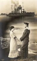 Matrosenliebe / navy life, romantic couple, warship, Haditengerész élet, romantikus pár, hadihajó