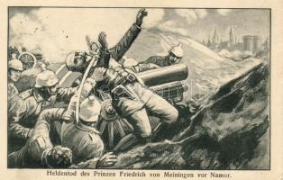 The heroic death of Prince Friedrich of Saxe-Meiningen in Namur