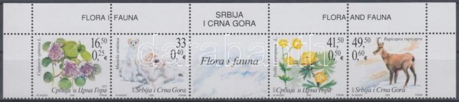 Native fauna and flora corner stripe of 5, Őshonos élővilág ívsarki ötöscsík, Einheimische Fauna und Flora Fünferstreifen mit Rand