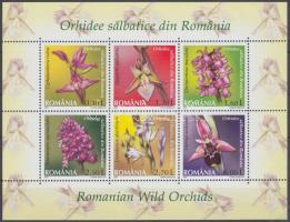 Wild orchids minisheet, Vadon élő orchideák kisív, Wildwachsende Orchideen Kleinbogen