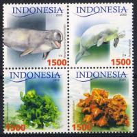 Tiere und Pflanzen Viererblock mit Rand, Állatok és növények ívszéli négyestömb, Animals and plants margin block of 4