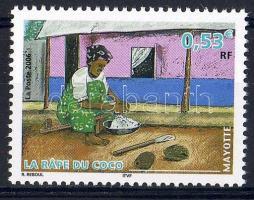 Kókuszörlés Kokosraspel Coco grinding