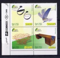 Design corner block of 4, Formatervezés ívsarki négyestömb, Design Viererblock mit Rand