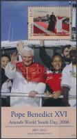 Travels of pope Benedict XVI block, XVI. Benedek pápa utazásai blokk, Reisen von Papst Benedikt XVI. Block
