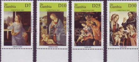 Christmas: paintings margin set, Karácsony: festmények ívszéli sor, Weihnachten: Gemälde Satz mit Rand
