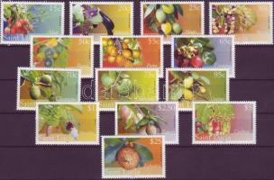 Definitive stamps: fruits set, Forgalmi bélyegek: gyümölcsök sor, Freimarken: Früchte Satz