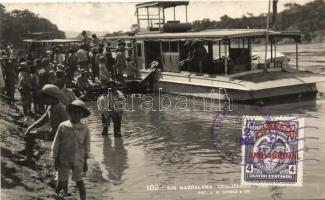 "Rio Magdalena, Deslizador ""Luz"" / river, steamship"