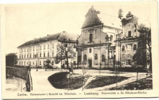 Lviv, Lwów, Lemberg; University, St. Nikolaus church