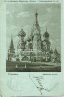 1898 Moscow, Moskau; Wasilkirche / church; Fr. A. Ackermann Künstlerpostkarte No. 519.