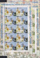 Trips of pope John Paul II in 2004 mini sheet set, II. János Pál 2004. évi utazásai kisívsor, Weltreisen von Papst Johannes Paul II. im Jahre 2004 Kleinbogensatz