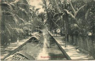 Negombo, Negambe; canal