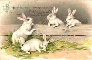 Easter, rabbits, litho, Húsvét, nyulak, litho