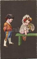 Spanish children, Italian art postcard, Ultra CMD 2034., unsigned Colombo, Spanyol kisgyerekek, Olasz művészlap, Ultra CMD 2034., szignózatlan Colombo