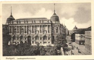 Stuttgart, Landesgewerbemuseum / museum, tram