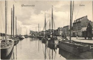 Greifswald, Hafen / port, ships