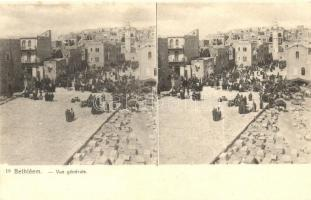 Bethlehem, Bethléem; stereo postcard