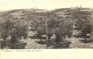 Bethlehem, Bethléem; Couvent, Aglise de la Nativité / church, convent, stereo postcard